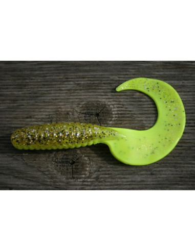Relax Kopyto FAT Grub Twister 13 cm, Fb.: Fluogelb-Clear-Kupfer-