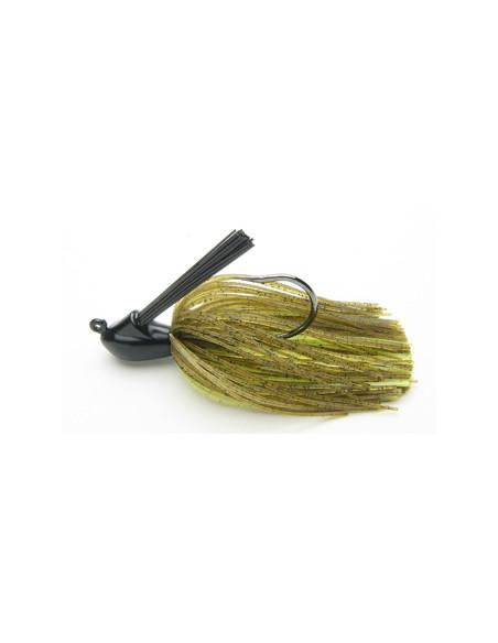 Keitech Rubber Jig Model I, 7 g., Green Pumpkin/Chartreuse