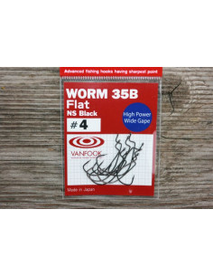 VanFook Worm 35B Flat NS Black, Gr.4