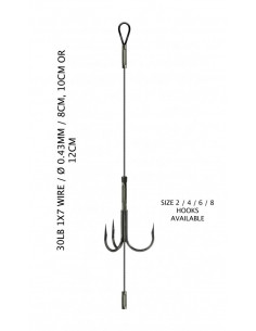 LYNX Adjustable Single Titanium Stinger 12 cm / 30 lb