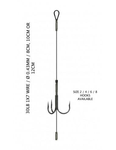 LYNX Adjustable Single Titanium Stinger 10 cm / 30 lb