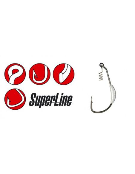 Gamakatsu Weighted Superline Spring-Lock, Gr.7/0