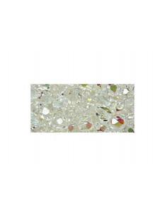 echte Glasperlen 6 mm, Facettschliff, Fb.: klar