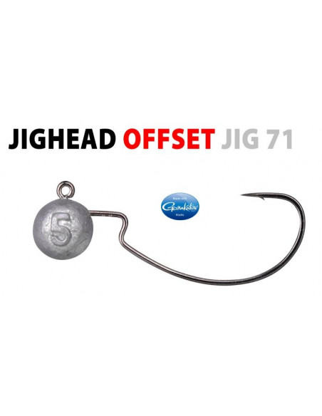Spo/Gamakatsu Offset Jig Head 4/0 - 10 g.