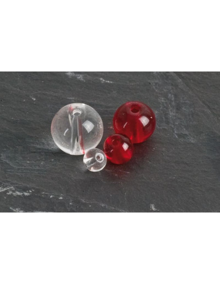Iron Claw Glass Beads 6 mm rot