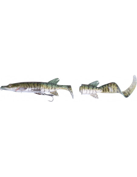 The 3D Hybrid Pike 25 cm / 130 g. / Fb.: Geen Silver Pike