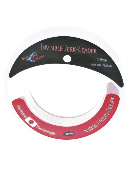 Iron Claw Invisible Jerk Leader 10 m / Tragk.: 18,3 kg. / 100%Fluorocarbon