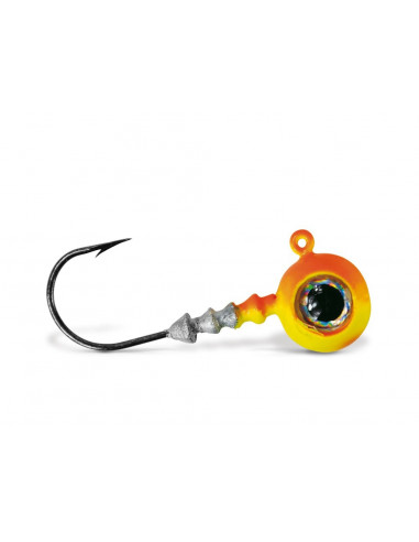 VMC Big Eye Jigkopf 4/0 - 18 g., Fb.: Chartreuse Orange