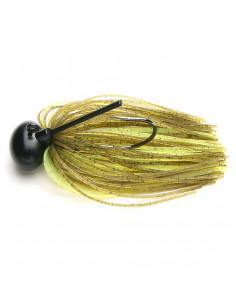 Keitech Rubber Jig Model II (FootballJig) 7 g., Fb.: 401 Green Pumpkin/Chartreuse