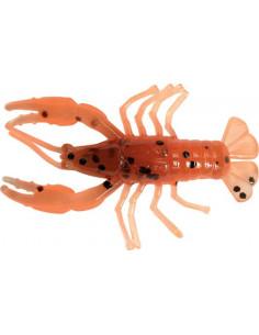 """Kopyto Relax Crawfish 2"""", Fb. CF13 Olivbraun-Orange Glitter"""
